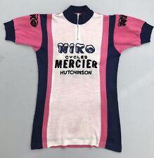 Vintage 1970s MERCIER MIKO HUTCHINSON Cycling Jersey - Size 2 - Small - VGC