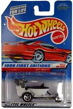 1998 Hot Wheels #648 First Edition #13 Hot Seat (red car card)