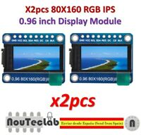 2pcs 0.96 inch 7P SPI HD TFT ST7735 Drive IC 80*160 65K Full Color LCD Display