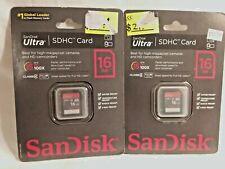 2 Sandisk Ultra SDHC Card 16gb