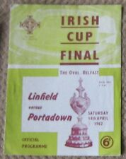 1962 Irish Cup Final Linfield v Portadown