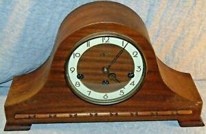 Vintage Welby German Mid Century Humpback Mantel Clock