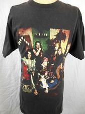Official Vintage 1997 Black Cotton Aerosmith Nine Lives USA Tour Rock T-shirt L