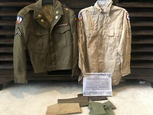 U.S. WWII Uniform Grouping From Estate 9th Army Air Force Signal Battalion