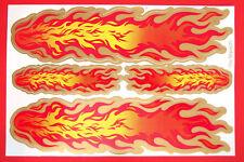 Aufkleber Sticker Deko - Flammen Feuer rot gold gelb                        #121