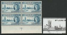 Aden 1946 Victory 2½d with 'Spot left of main tower' R 9/3 SG 29 Mnh.