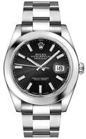 NEW Rolex Datejust 41 Black Dial Steel Men's Watch 126300