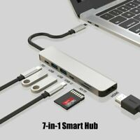 7 in 1 Dual USB Type C hub to USB 3.1 Multiport Adapter 4K HDMI PD for Mac pro