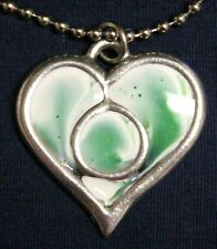 Sherbet Heart pendant (green)