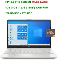 "2021 HP 15.6"" Screen AMD Ryzen 3 3250U, up to 3.5GHz,32GB RAM  256GB SSD+1TB HDD"
