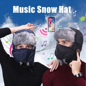 bluetooth Snow Winter Warm Hat Smart Music Headset Thicken Plush Lei Feng Hats