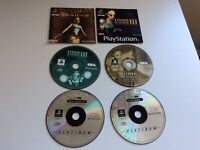 Playstation 1 Ps1 Disc Only Tomb Raider + 4 Discs