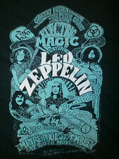 LED ZEPPELIN SHIRT retro 70's CONCERT Tour Wembley Poster Art Electric Magic SM