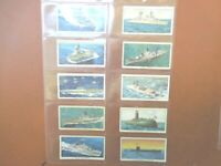 1962 Kellogg cereal SHIPS OF THE BRITISH NAVY  Trade set 16 cards like tobacco
