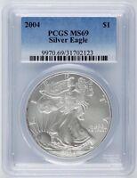 2004 1 oz. United States Silver American Eagle One Dollar $1 - PCGS MS-69