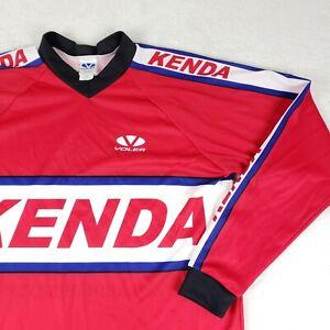 Voler X Kenda Tires MX Cycling Jersey Racing Motocross Made USA Men L Red RARE
