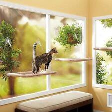 Window Mounted Pet Kitty Cat Beds Hanging Hammock Perch Cushion Pad Shelf Seat