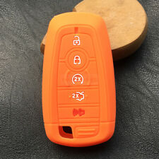 Orange Smart Remote Key Silicone Skin Case Cover 5 Buttons Fit Ford F-150 F-250