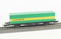 RÖWA Spur H0 2012 Tragwagen Lbs mit SCHENKER Container, DB, Epoche IV