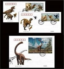 China 2017-11 Chinese Dinosaurs stamps +sheetlet FDC