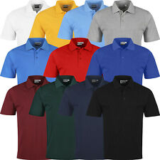 Mens Polo Shirts Short Sleeve Premium Regular Fit Pique Work Casual Plain Top