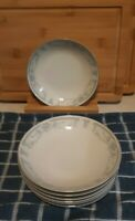Vintage Sheffield Blue Whisper Fine China Berry/Sauce bowls Set of 4 NOS