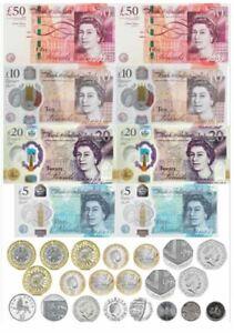 Mix of Edible money pound notes and coins - -Cupcake, cake, bun Topper