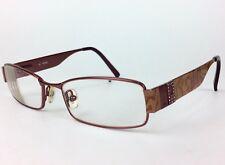 GUESS GU 1585ST 51/16/135mm Eyeglasses Frame Rectangle Metal Burgundy Full Rim