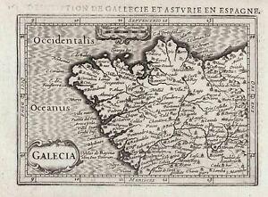Galicia Galiza Espana Spain Spanien Espagne mapa grabado map Karte Bertius 1618