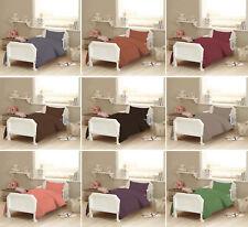2pc Egyptian Cotton Plain Baby Cot Bed Duvet Quilt Cover & Pillowcase Toddler