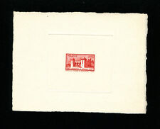 Morocco (French) 1955 Sc 310 Communications   Sunken Die Artist Proof in Red
