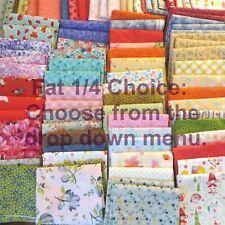 Pre-Cut Fat Quarters Fat 1/4 Cotton Fabric Florals Blenders Etc, Your Choice.