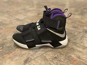 LIGHTLY WORN Mens Nike Lebron Soldier 10 X Black/White High Size 10 844374-008