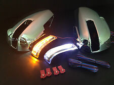 MIT Toyota KLUGER 2009-2013 Chrome mirror cover LED turn lights Parking lamps