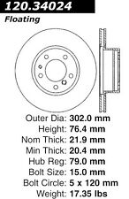 Disc Brake Rotor-High Performance Slotted Centric 126.34024SL