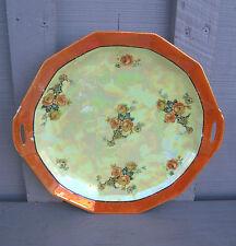 "Old Vintage Rose Pattern 10-5/8"" Serving Platter Orange Lusterware ~ Germany"