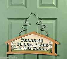 """New listing """"Welcome to Our Place in the Woods� Lodge Cabin Woodland Wall Hanging Sign Decor"""