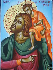 ST. CHRISTOPHER HAND PAINTED GREEK ORTHODOX ICON