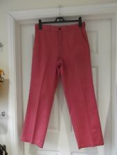 M&S Trousers Salmon Pink Chinos Smart/Casual Summer Wear Classic Size 32W 31L