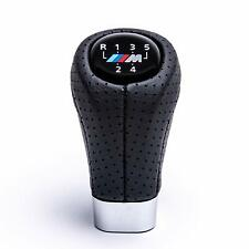 5 Speed Carbon Fiber Gear Shift Knob M Sport Leather For B-MW E36 E39 E46 E90