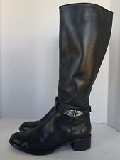 Etienne Aigner Black Leather Boots Knee High Womens Size 6.5
