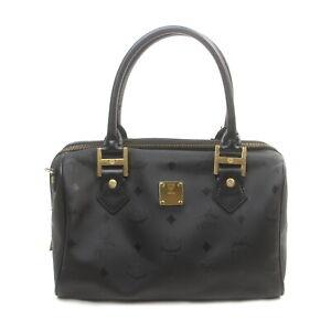 MCM Hand Bag  Black Nylon 1424186
