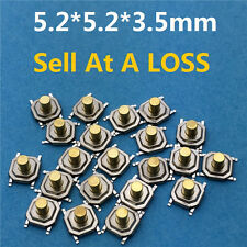 5.2*5.2*3.5mm G67 4 PIN SMT Metal Tactile Push Button Switch Tact Switch