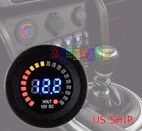 LED Digital Waterproof Voltmeter Gauge Meter 12V-15V Car Auto Motorcycle Boat