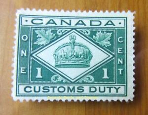 EBS Canada 1912 - One Cent Customs Duty - MNG (*)
