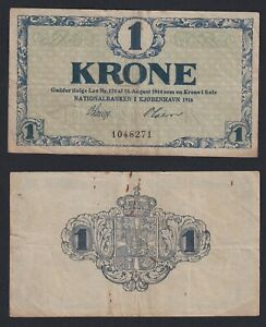 Danimarca 1 krone 1916 BB/VF  B-08