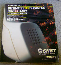 RARE 1990 SNET phone book CONNECTICUT B2B BUSINESS DIRECTORY 1000pgs geneaology