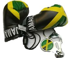 Jamaica flag, mini Jamaican Boxing gloves w/ Bottle Opener Nail Clipper keychain