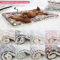 Dog Cat Puppy Pet Plush Blanket Mat Warm Sleeping Soft Bed Blankets Supplies Cc