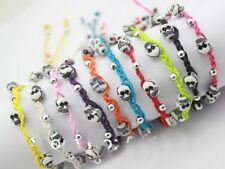 fantastic Hemp braided handmade skull head bracelets surfer ethnic lucky charm